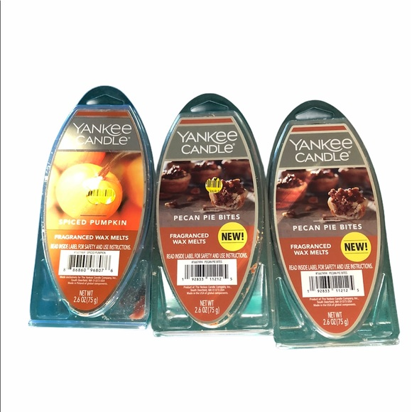 3 packages of yankee candle wax melts
